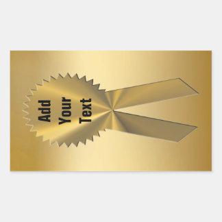 Sellos y pegatinas de la cinta del oro doble pegatina rectangular