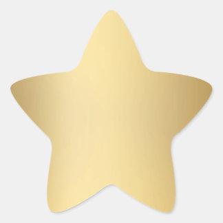 Sellos y pegatinas de la estrella del oro colcomanias forma de estrellaes