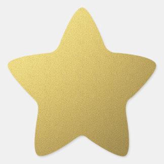 Sellos y pegatinas de la estrella del oro pegatina en forma de estrella