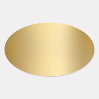 Sellos y pegatinas del oro calcomanía de óval personalizadas