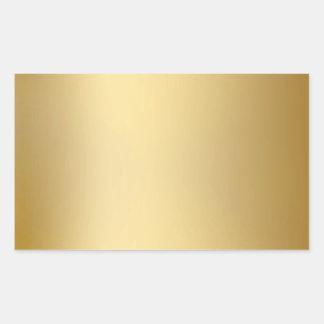Sellos y pegatinas del oro pegatina rectangular
