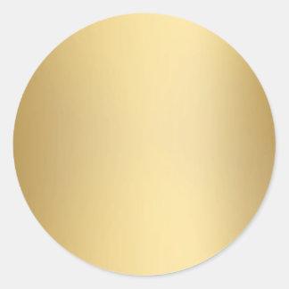 Sellos y pegatinas del oro pegatina redonda