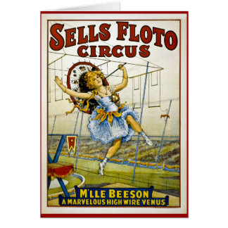 Sells Floto 1921 - M'lle Beeson Greeting Cards