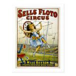 Sells Floto 1921 - M'lle Beeson Postcard