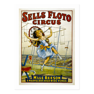 Sells Floto 1921 - M'lle Beeson Postcards