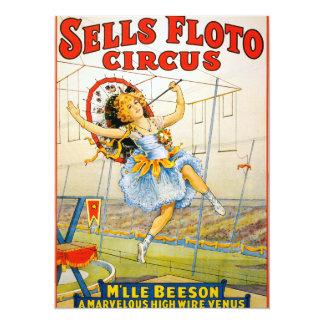 Sells Floto Circus Card