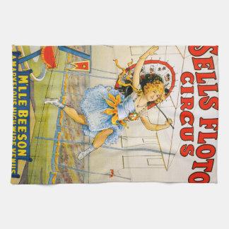 Sells Floto Circus Hand Towel