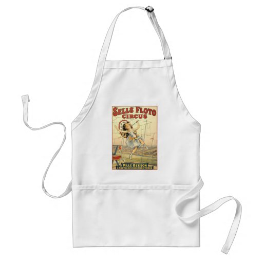 Sells Floto circus M'lle Beeson Aprons
