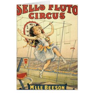 Sells Floto circus M'lle Beeson Greeting Card