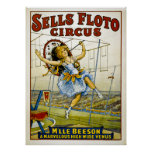 Sells Floto Circus - M'lle Beeson- High Wire Venus Print