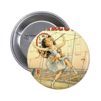 Sells Floto circus M'lle Beeson Pinback Button