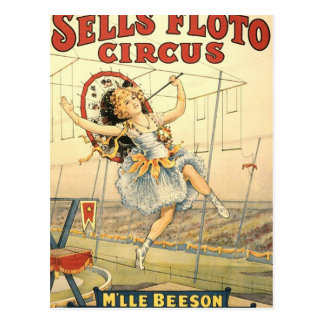 Sells Floto circus M'lle Beeson Post Cards
