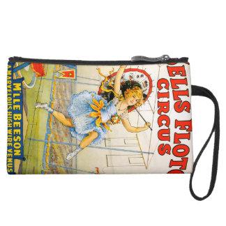 Sells Floto Circus Suede Wristlet Wallet