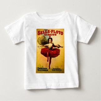 Sells Floto Wire Dancer Circus Princess Victoria Baby T-Shirt