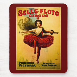 Sells Floto Wire Dancer Circus Princess Victoria Mouse Pad