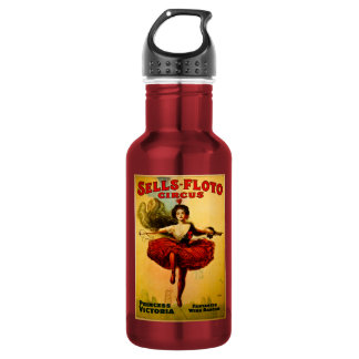 Sells Floto Wire Dancer Circus Princess Victoria 18oz Water Bottle