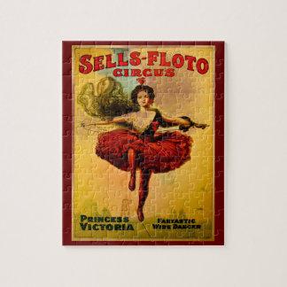 Sells Floto Wire Dancer Circus Princess Victoria Jigsaw Puzzle
