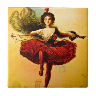 Sells Floto Wire Dancer Circus Princess Victoria Tile