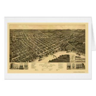 Selma, AL Panoramic Map - 1887 Cards