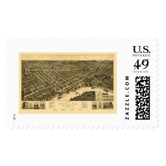 Selma, AL Panoramic Map - 1887 Postage Stamps
