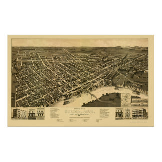 Selma, AL Panoramic Map - 1887 Poster