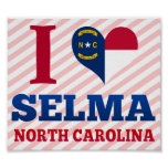Selma, Carolina del Norte Poster