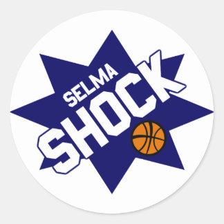 Selma Shock Basketball Stickers