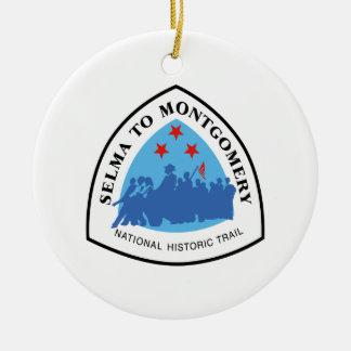 Selma to Montgomery Trail Sign, Alabama Ceramic Ornament
