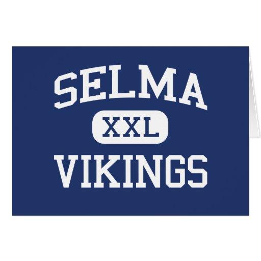 Selma Vikingos Selma medio Carolina del Norte Tarjeta De Felicitación