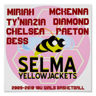 SELMA YELLOWJACKETS 10U GIRLS BASKETBALL POSTER