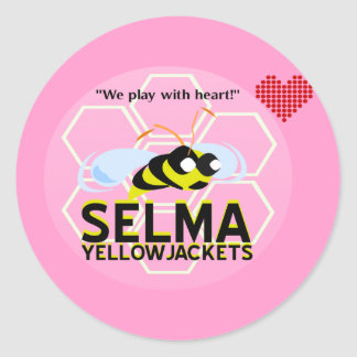 SELMA YELLOWJACKETS CLASSIC ROUND STICKER