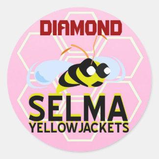 SELMA YELLOWJACKETS PLAYER STICKERS