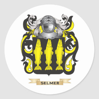 Selmer Coat of Arms (Family Crest) Classic Round Sticker