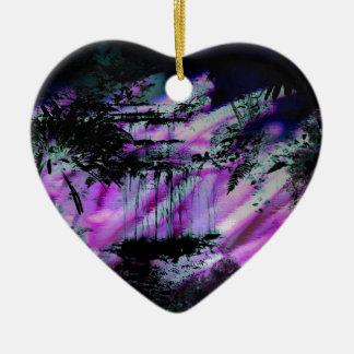 selva abstracta ornamento para arbol de navidad