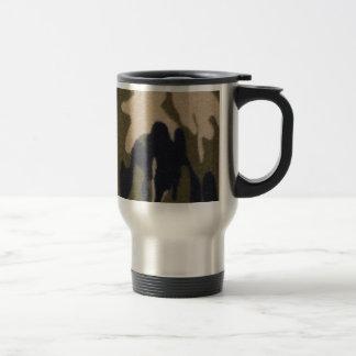 Selva de la impresión de Camo verde/negro para los Taza De Café