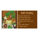 Selva del bebé 10 fiestas de bienvenida al bebé tarjetas con fotos personalizadas