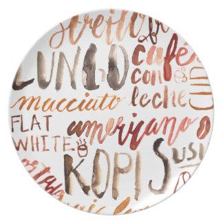 Selva del café platos para fiestas