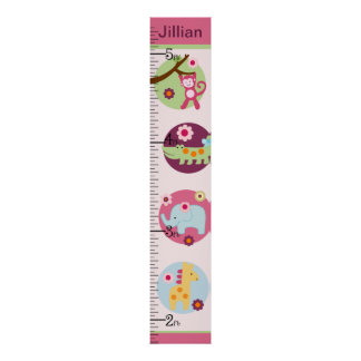 Selva del Lollipop carta de crecimiento personaliz Posters