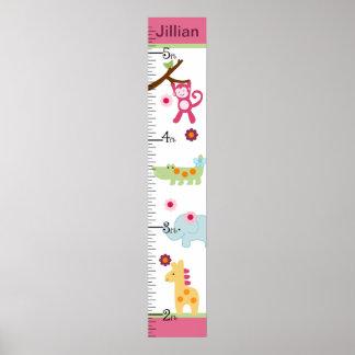 Selva del Lollipop/carta de crecimiento personaliz Poster
