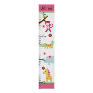 Selva del Lollipop/carta de crecimiento personaliz Póster