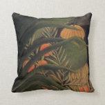 Selva del plátano con las hojas de palma Rousseau  Cojin