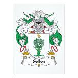 Selva Family Crest 5x7 Paper Invitation Card