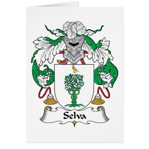 Selva Family Crest Greeting Card