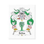 Selva Family Crest Stretched Canvas Prints