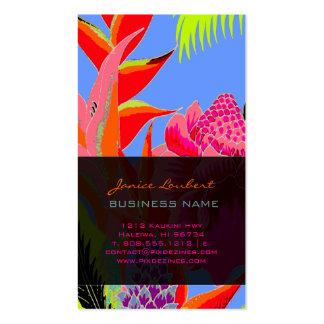 Selva hawaiana 3 de PixDezines - fondo de encargo Tarjetas De Visita