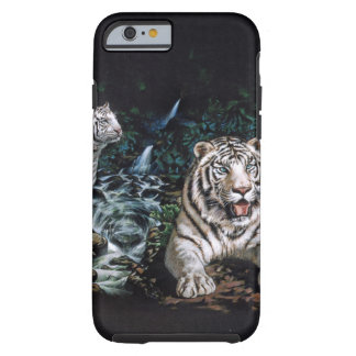 Selva mágica del tigre blanco funda de iPhone 6 tough