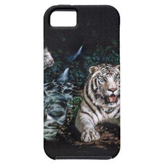 Selva mágica del tigre blanco iPhone 5 Case-Mate protector