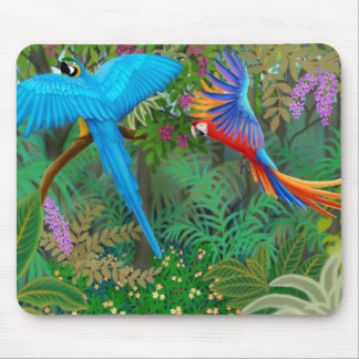 Selva Mousepad del Macaw Tapetes De Ratón
