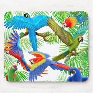 Selva Mousepad del Macaw Alfombrillas De Raton
