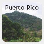 Selva tropical puertorriqueña calcomanías cuadradass personalizadas